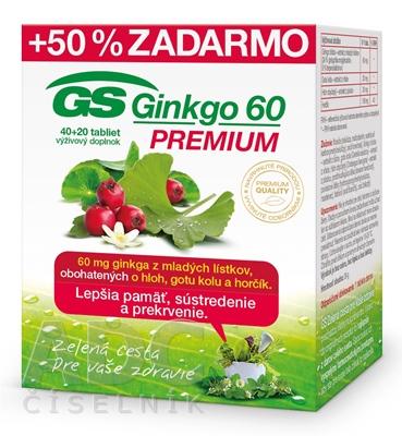 GS Ginkgo 60 PREMIUM