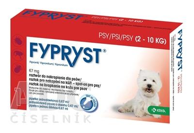 FYPRYST 67 mg PSY 2-10 KG