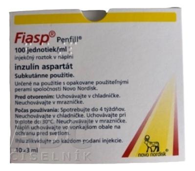 Fiasp 100 jednotiek/ml injekčný roztok v náplni