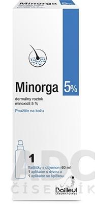 Minorga 5 % dermálny roztok