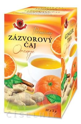 HERBEX Premium ZÁZVOROVÝ ČAJ Orange