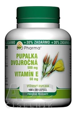 BIO Pharma Pupalka dvojročná 500 mg, Vit. E 50 mg