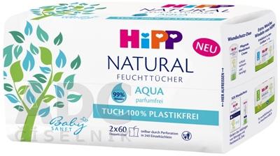 HiPP BabySANFT NATURAL Aqua vlhčené obrúsky