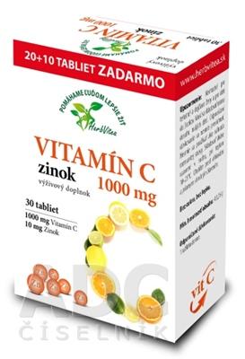 HerbVitea VITAMÍN C 1000 mg, zinok