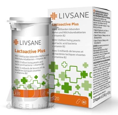 LIVSANE Laktoaktívne kapsuly plus vitamín B2