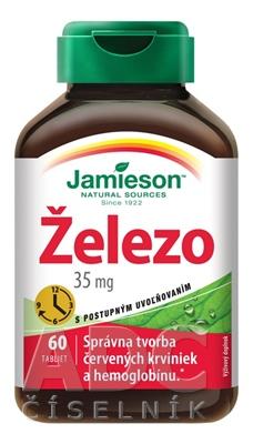 JAMIESON ŽELEZO 35 mg S POSTUPNÝM UVOĽŇOVANÍM