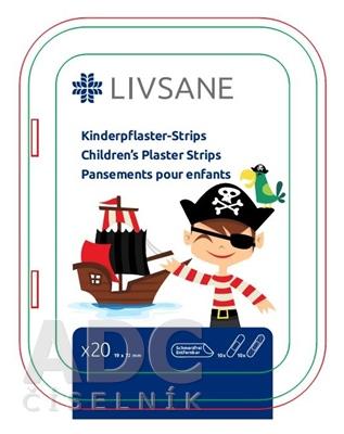 LIVSANE Náplasť detská prúžky Pirát