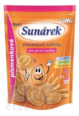 Sunárek sušienky písmenkové