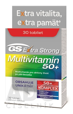 GS Extra Strong Multivitamín 50+ 2017