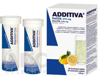 ADDITIVA Horčík 375 mg + B-Komplex + Vitamín C