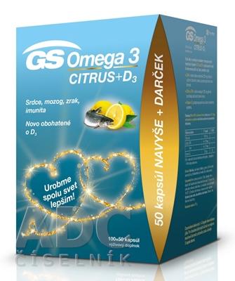 GS Omega 3 CITRUS + D3 darček 2020