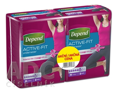 DEPEND ACTIVE-FIT M pre ženy DUOPACK