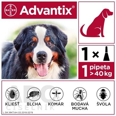 Advantix Spot-on pre psy od 40 do 60 kg