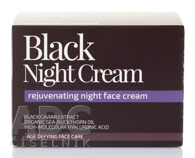 NATURA SIBERICA IMPERIAL CAVIAR Black Night Cream