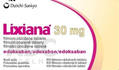 Lixiana 30 mg filmom obalené tablety