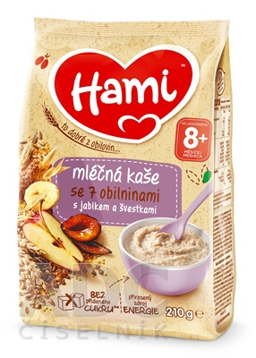 Hami mliečna kaša so 7 obilninami