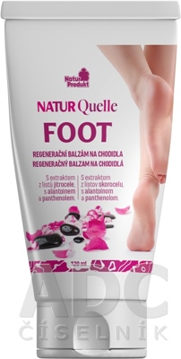 NATURQuelle FOOT Regeneračný balzam na chodidlá