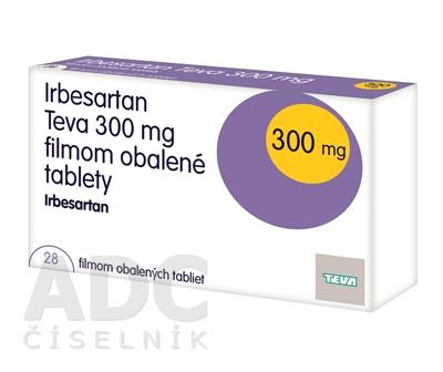 Irbesartan Teva 300 mg filmom obalené tablety