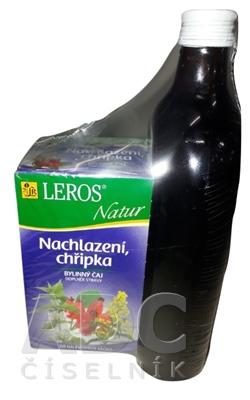 LEROS ŠŤAVA Šípka+4 byliny + Natur Prechladnutie