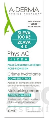 A-DERMA PHYS-AC CRÈME COMPENSATRICE HYDRA (zľava)