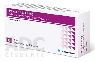 Pexapral 3,15 mg tablety s predĺženým uvoľňovaním