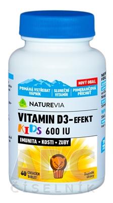 SWISS NATUREVIA VITAMIN D3-EFEKT KIDS 600 I.U.