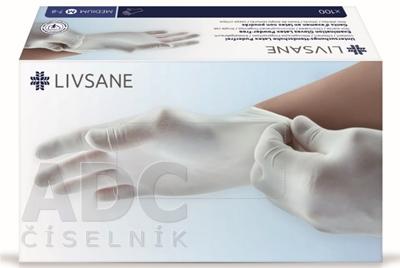 LIVSANE Latexové rukavice nepúdrované M