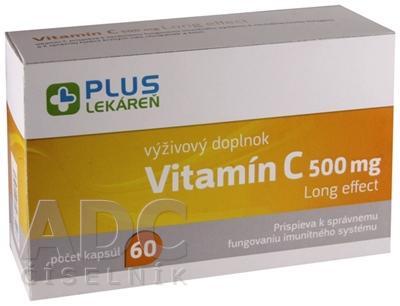 PLUS LEKÁREŇ Vitamín C 500 mg Long effect