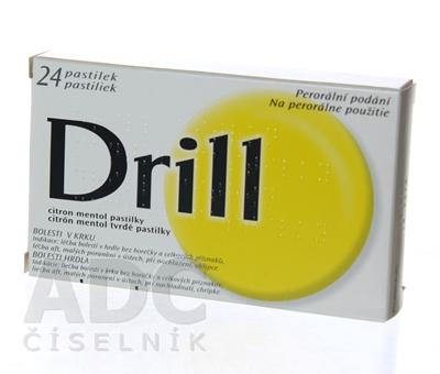 DRILL CITRÓN MENTOL tvrdé pastilky