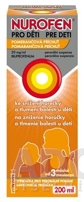 NUROFEN pre deti Pomaranč