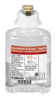 Gentamicin B. Braun 1 mg/ml infúzny roztok