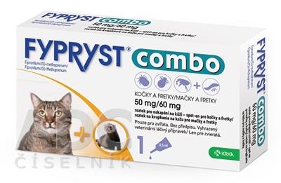 FYPRYST combo 50 mg/60 mg MAČKY A FRETKY