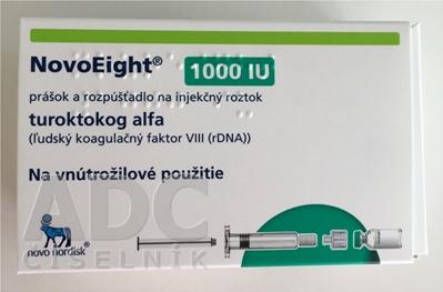 NovoEight 1000 IU prášok a rozpúšťadlo na inj.roz.
