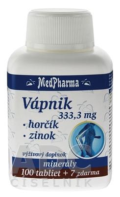 MedPharma VÁPNIK 333,3 mg + Horčík + Zinok