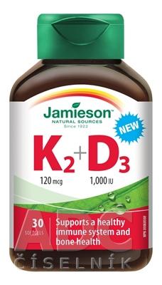 JAMIESON VITAMÍNY K2 120 µg + D3 1000 IU