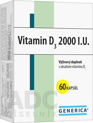 GENERICA Vitamin D3 2000 I.U.