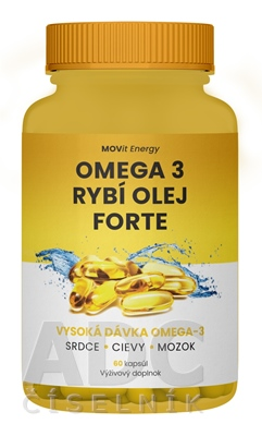 MOVit Omega 3 Rybí Olej FORTE