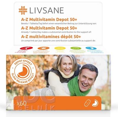 LIVSANE A-Z Multivitamín komplex 50+