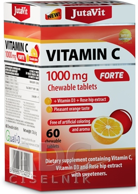 JutaVit Vitamín C 1000 mg FORTE
