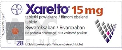 Xarelto 15 mg filmom obalené tablety