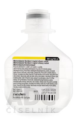 Metronidazole Noridem 5 mg/ml infúzny roztok