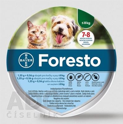 Foresto obojok pre mačky a psy do 8 kg
