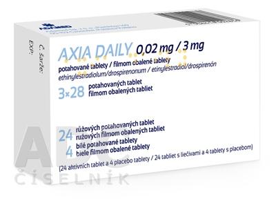AXIA DAILY 0,02 mg/3 mg filmom obalené tablety