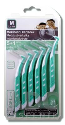 SOFTdent Medzizubná kefka M 0,6 mm