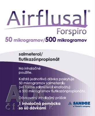 Airflusal Forspiro 50 mikrogramov/500 mikrogramov