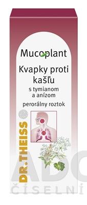 Mucoplant Kvapky proti kašľu s tymiánom a anízom