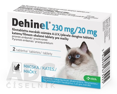 DEHINEL 230 mg/20 mg pre mačky