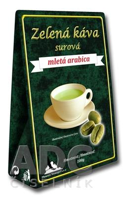 Zelená káva surová