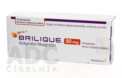 BRILIQUE 90 mg filmom obalené tablety