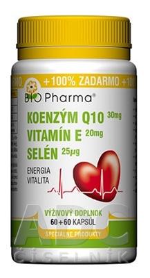 BIO Pharma Koenzým Q10 30mg+Vit.E20mg+Selén 25μg